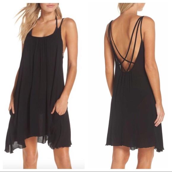edfcbacda8 Elan Dresses & Skirts - Elan Swimwear | Black Slip Dress Sz Large